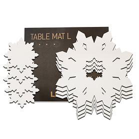 Platzset 'Snowflake' 8-tlg. 4 Platz- & 4-Glasuntersetzer | Heimtextilien > Tischdecken und Co > Platz-Sets | LINDDNA
