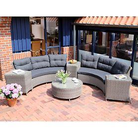 Geflecht-Loungemöbel, rundes Design