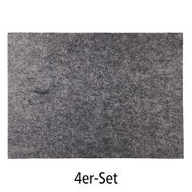 Tischset Filz 4er-Set grau