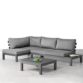 *NEU*: Gartenlounge-Set aus Aluminium, 3-teilig, anthrazitfarben