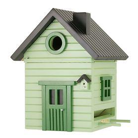 Vogelhaus 'Schwedenkate' grün | Garten > Tiermöbel > Vogelhäuser-Vogelbäder