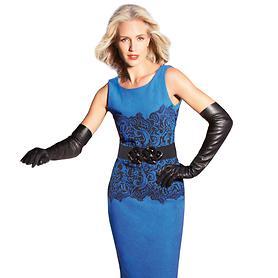 Enges Kleid mit raffiniertem Spitzen-Jacquard