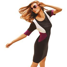 Kleid Drew schwarz/violett Gr. 36