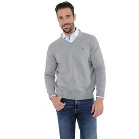 V-Pullover Tim silber