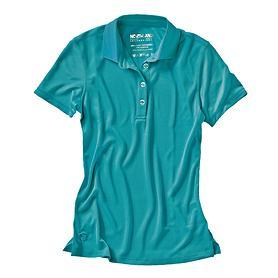 Damen-Poloshirt Cafe Base Rea Polo türkis Gr.34