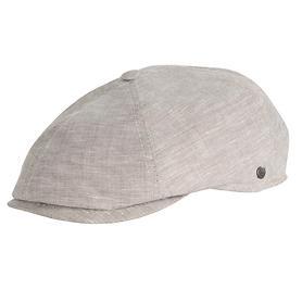 Flatcap Adrian grau-beige meliert Gr.56