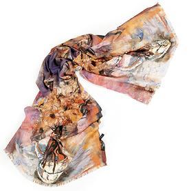 Schal Art Naturtöne 180 x 70 cm