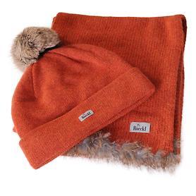 Strickset Polar orangerot (Mütze &Schal)