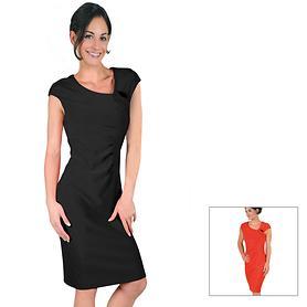 Elastisches Kleid mit übersch- nittenen Ärmeln und Raffungen