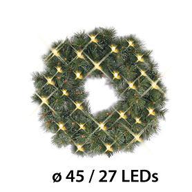LED-Tannenkranz D 45 cm batteriebetrieben