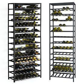 Weinregalsystem BLACK PURE H 200 cm, aus schwarzem Metall