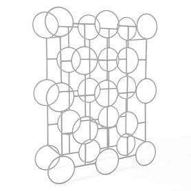 Metall-Weinregal Circolo, silber