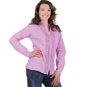 Rüschen-Bluse, pink, Gr. 38