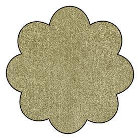 Fußmatte Blume, waschbar, olivgrün, D 75 cm