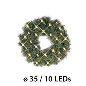 LED-Tannenkranz D: 35 cm batteriebetrieben