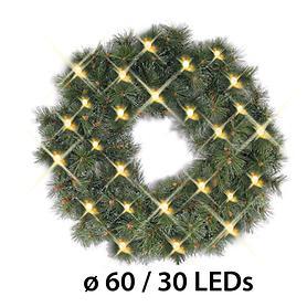 LED-Tannenkranz D: 60 cm batteriebetrieben