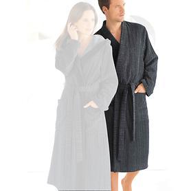 Herren-Kimono-Bademantel, Pure, graphit, Gr. XL