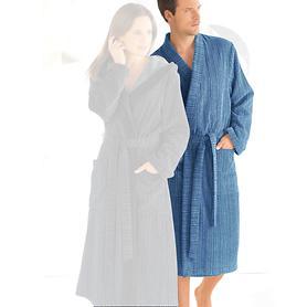 Herren-Kimono-Bademantel, Pure, blau, Gr. M