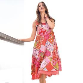 Hängerchen-Kleid aus Bio-Baumwolle mit Crasheffekt