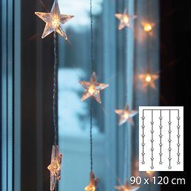 LED-Sternenlichtervorhang 120 x 90 cm