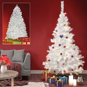Weißer LED-Weihnachtsbaum