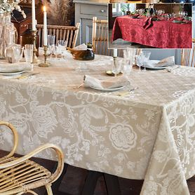 Jacuard-Damast-Tischwäsche Scarlet