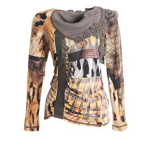 Designer-Langarmshirt Belt Gr. 36