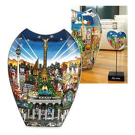 Deko-Vase & -Herz Ballon Ride over NY