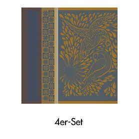Serviette Anhinga Bleu Dore 55 x 55 cm, 4er-Set