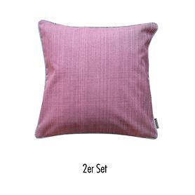 Kissenhülle Outdoor 2er-Set rosa-meliert