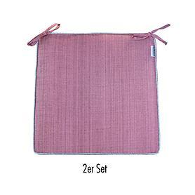 Sitzkissen Outdoor 2er-Set rosa-meliert