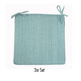 Sitzkissen Outdoor 2er-Set mint-meliert