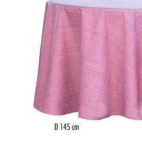 Tischdecke Outdoor D 145 rosa-meliert