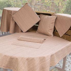 Tischwäschen-Serie Outdoor lachsfarben-meliert