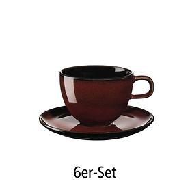 Kaffeetasse 6er-Set rusty red
