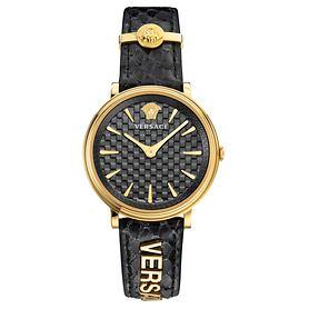 Nice: Versace-Uhr V-Circle gold Idee