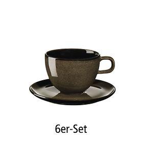 Kaffeetasse 6er-Set chestnut