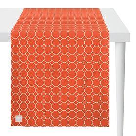 Tischläufer Outdoor koralle/stein L:135 x B:46cm