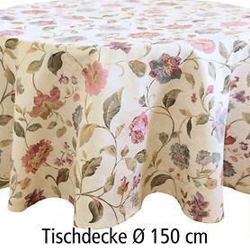 Tischdecke Blumen D:150cm