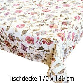 Tischdecke Blumen 170x130cm