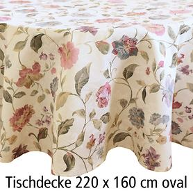 Tischdecke Blumen 220x160cm