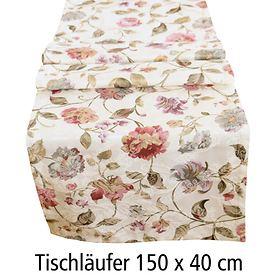 Tischläufer Blumen 150x40cm