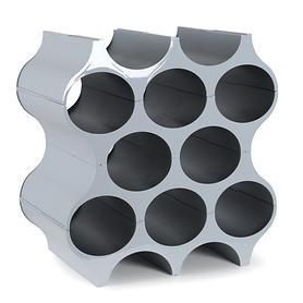 Weinregal Set-up, cool grey