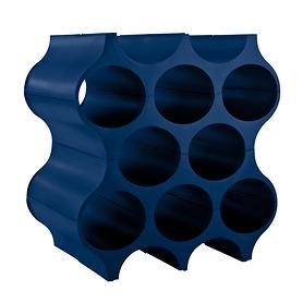 Weinregal Set-up, deep velvet blue