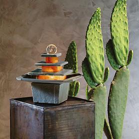 Beleuchteter Zimmerbrunnen 'Mandala' mit Kugel | Dekoration > Zimmerbrunnen