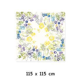Tischdecke Fleurs champetres 115x115cm