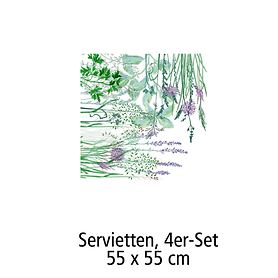 Servietten, 4er-Set,45 x 45 cm Jardin aromatique floraison