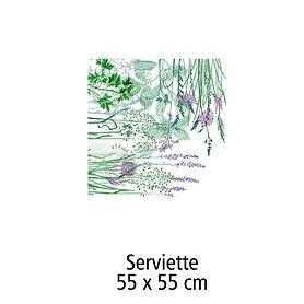 Serviette, 45 x 45 cm Jardin aromatique floraison