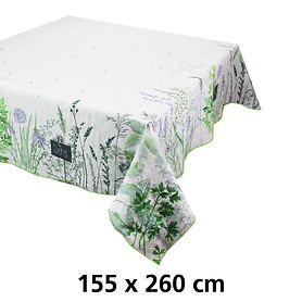 Tischdecke 155 x 260cm Jardin aromatique floraison