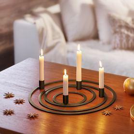 Kerzenhalter Four Rings